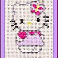 Échange ATC [Hello Kitty] Chez Brigitte (Les couleurs de Malina) Véronique pour Marie de Clessé 1