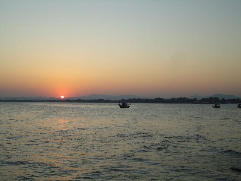 Le coucher de soleil du mercredi 24 août 2011