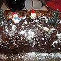 Buche chocolat / pistache