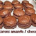 Macarons amande/chocolat