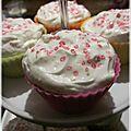 Cupcakes citron framboises