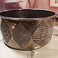 Coupe Céramique Lustrée Ceramano Keramik Gold West-Germany ca1960