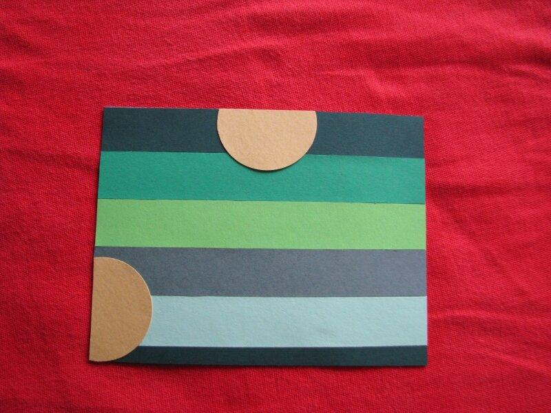 carte anniversaire : recyclage papiers couleurs
