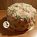 Gâteau chocolat blanc et framboises