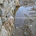 Le drainage d'un mur en pierre sèche