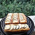 <b>Gâteau</b> de courgettes au fromage de chèvre