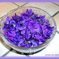 Beignets aux fleurs de violette