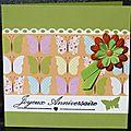 15. vert - papillons et fleurs