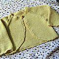 Comme le soleil brille je tricote leger !!!