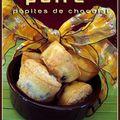Mini soufflés à la poire et pépites de chocolat