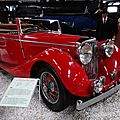 Jaguar ss cars ss100 2,5l convertible 1938