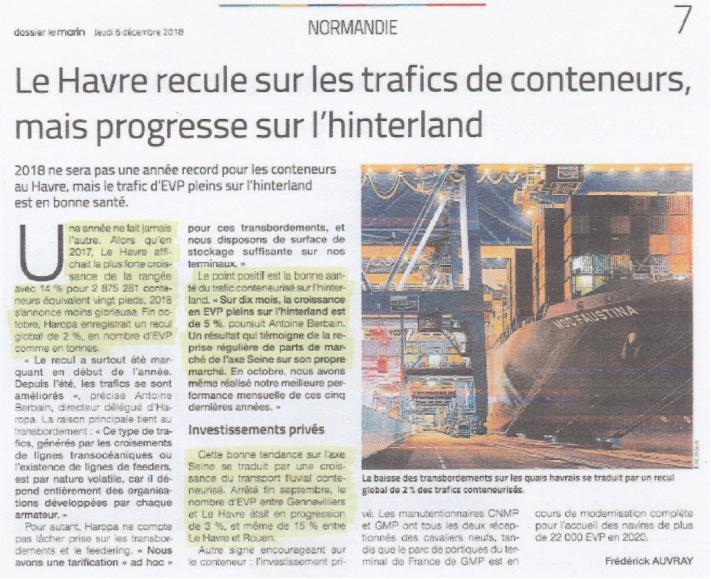 Aujourd'hui, dans la rubrique «fossoyeurs du port du Havre» : les strabiques convergents pourvus d'oeillères