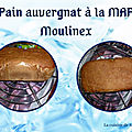 Pain de <b>seigle</b> auvergnat à la MAP Moulinex home bread