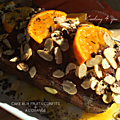 Cake aux fruits confits et sirop d'orange