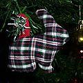 Suspensions d'<b>Animaux</b> en <b>tissu</b> pour sapin de Noël (ou autre ;-))