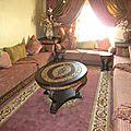Salon <b>marocain</b> traditionnel élégant