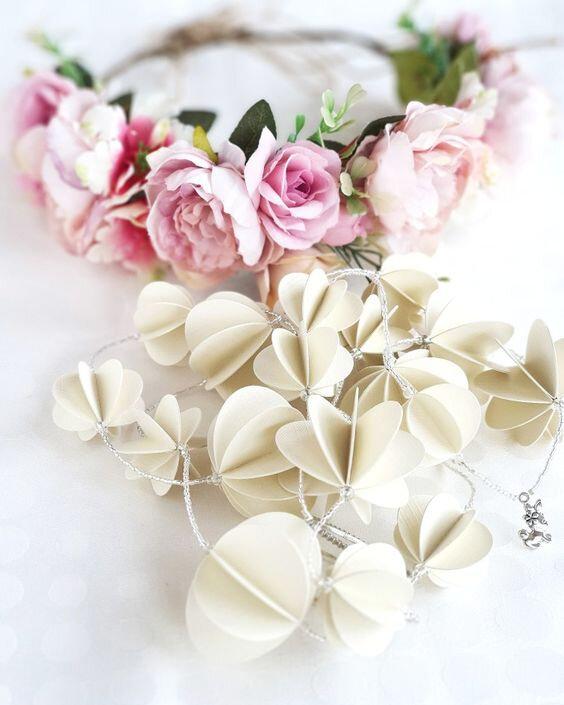 guirlande papier blanc vanillejolie