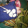 Mitaines inspirées des tricots de coco