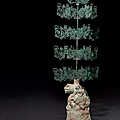 A rare and large bronze and green-glazed pottery 'Money tree', <b>Eastern</b> <b>Han</b> <b>dynasty</b>, 1st-3nd century AD