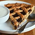 Recette islandaise, tarte à la confiture de rhubarbe