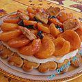 Tarte sablée aux abricots rôtis au miel et basilic