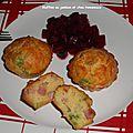 Muffins au jambon et <b>chou</b> <b>romanesco</b>.
