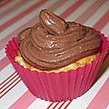Cupcake fondant banane chocolat