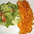 Escalope de dinde aux chips saveur poivrons grillés chorizo