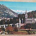 Lourdes - basilique et pic du Jer datée 1979