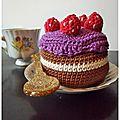 Un gâteau tout au crochet