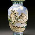 A large <b>Canton</b> enamel vase, Qing dynasty, Qianlong period (1736-1795)