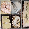 Lasagnes au saumon, poireaux & champignons (béchamel légère)