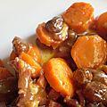 Carottes fondantes aux raisins secs