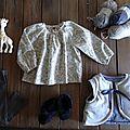 Home-made perso : blouse phoebe et petit gilet pour réchauffer.