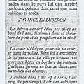 Un poème de Jean-Luc Pouliquen. Dans le numéro 79 du Pays d'Apt. Juillet 1990.