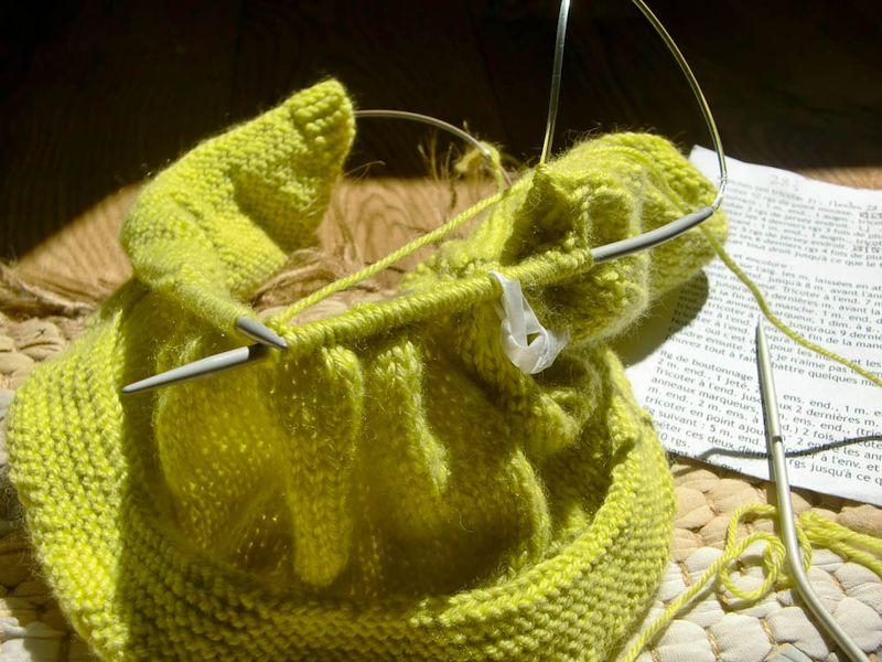 comment tricoter avec des aiguilles circulaire