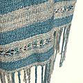 Longue écharpe tissée en Badiane (mérinos et soie)