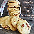 Cookies raisins et baies de goji