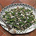 Salade de quinoa aux legumes verts