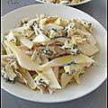 Salade d'endives au poulet, poire & bleu - ensalada de endibias al pollo, pera & queso azul