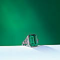 The whitney emerald: an art deco emerald and diamond ring by tiffany & co., new york, circa 1925
