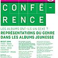 Représentations du genre dans les albums une conférence de nelly chabrol gagne autour des sélections de l'atelier des merveilles