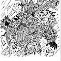 Marine chaos - encré