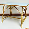 Petit mobilier ... table en rotin * louis