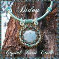crystal burst étoilé turquoise