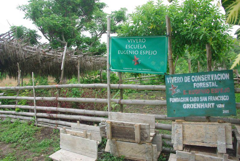 La pépinière de l'école Eugenio Espejo
