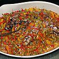 Cuisse de dinde au sirop d'<b>érable</b> en croûte de poivrons