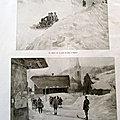 Ski bob <b>megeve</b> illustration ancienne sp6