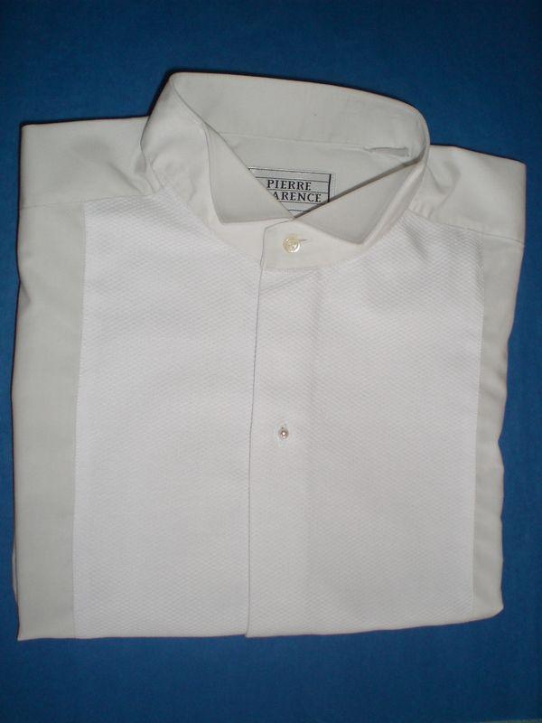 Plastron de chemise à col cassé