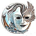 Inktober 2017 - 31 : masque de sirène